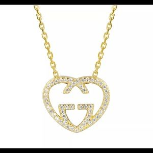 Gold Gucci Heart Necklace